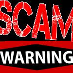 Beware of scams!
