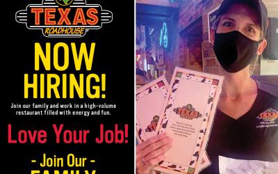 Texas Roadhouse now hiring